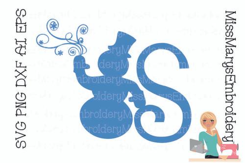 Snowman Swirl Letters
