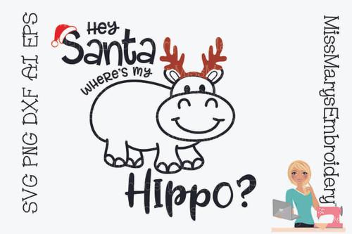 Hey Santa Where's My Hippo