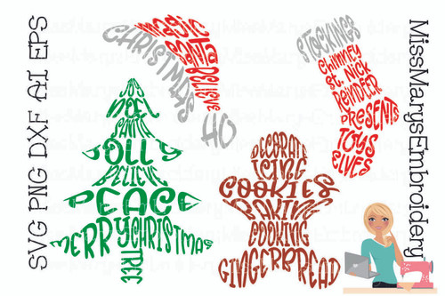 Christmas Word Art