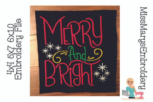 Merry and Bright Embroidery