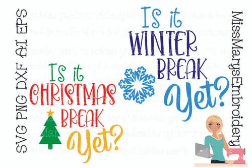 When Is Break?