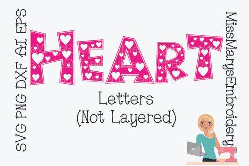 Heart Letters (Not Layered)