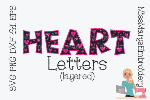 Heart Letters (Layered)