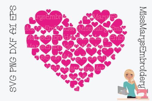 Heart Full of Hearts SVG
