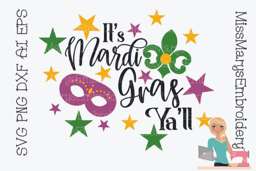 Mardi Gras Y'all SVG 2