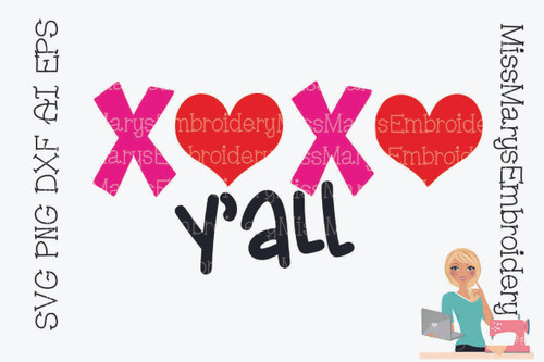 XOXO Y'all SVG