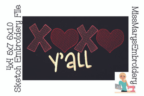 XOXO Y'all Embroidery