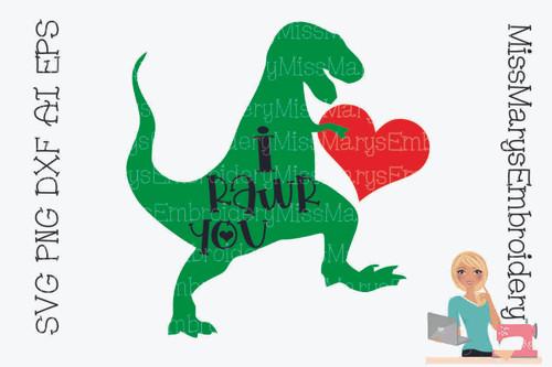 I Rawr You SVG