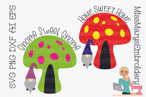 Gnome Sweet Home SVG