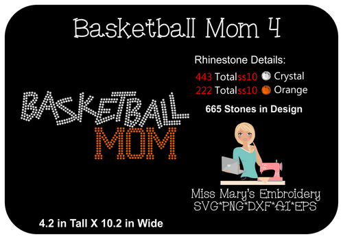 Rhinestone Basketball Mom 4