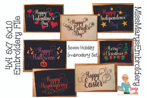 Happy Holiday Embroidery Bundle