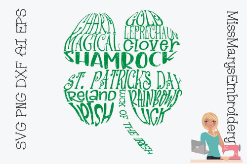 Shamrock Word Art