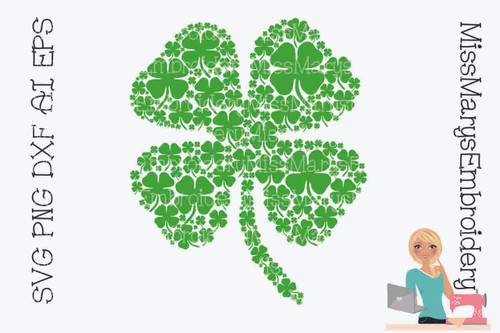 Four Leaf Clover Full of Clovers