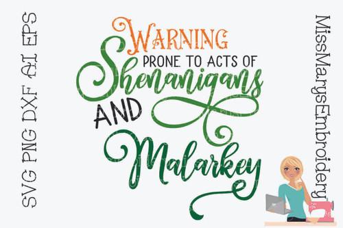 Shenanigans & Malarkey SVG