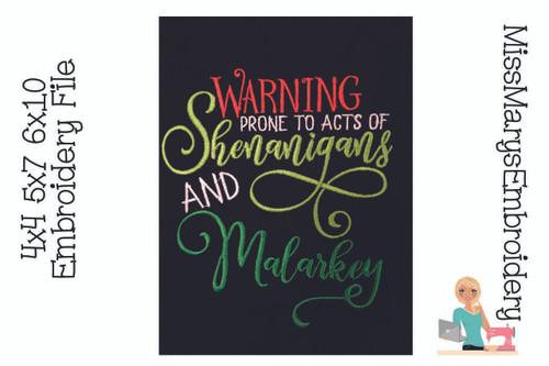 Shenanigans & Malarkey Embroidery