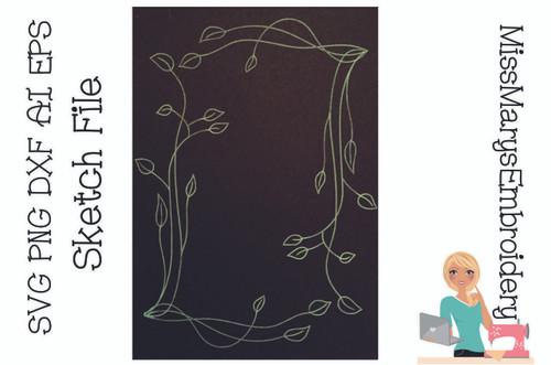 Leaf Frame Sketch File