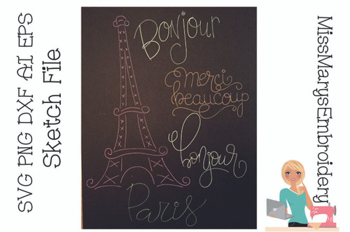 Paris Sketch Set