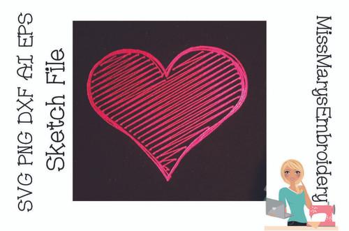 Free Sketch Heart