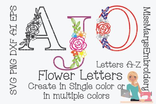 Flower Letters SVG
