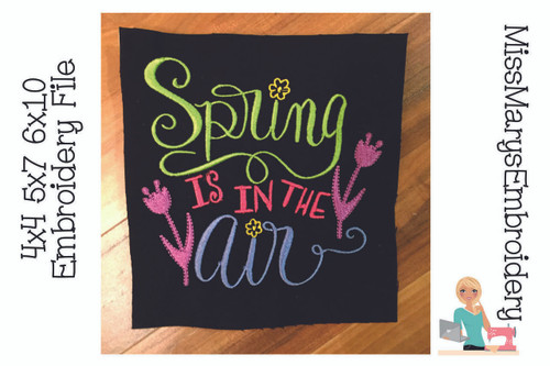 Spring is in the Air Embroidery