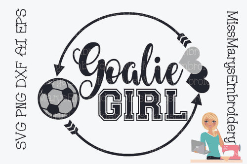 Goalie Girl Monogram SVG