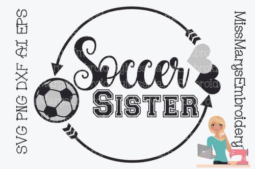 Soccer Sister Monogram SVG
