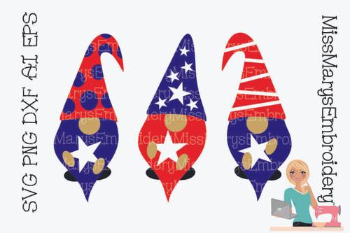 Patriotic Garden Gnomes
