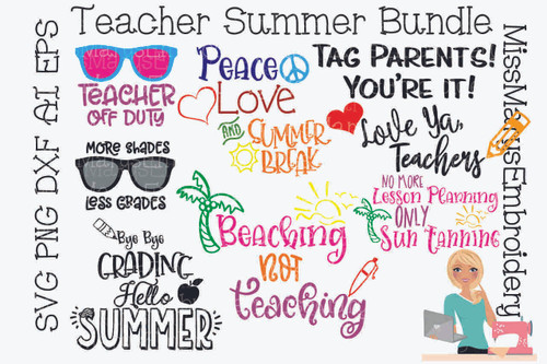Teacher Summer Break Bundle SVG