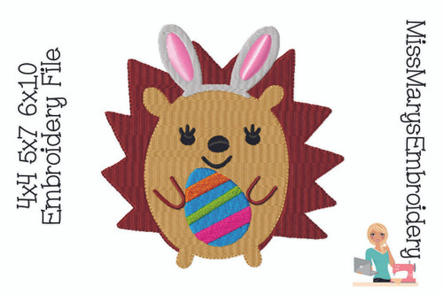 Easter Hedgehog Embroidery