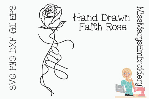 Faith Rose SVG