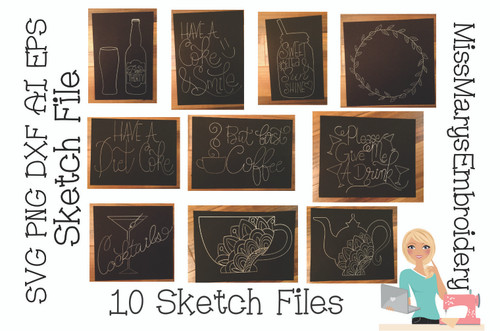 Coaster Sketch File Set