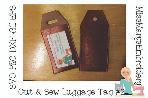 Cut & Sew Luggage Tag #2