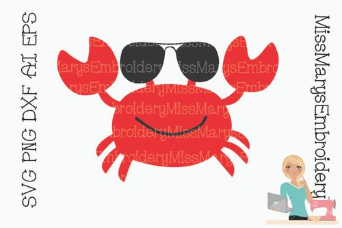 Sunglasses Crab SVG