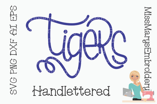 Hand Lettered Tigers