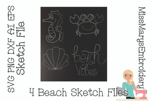 Beach Sketch File Set
