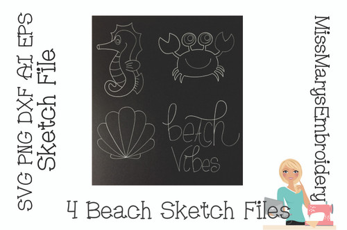Beach Sketch File Set