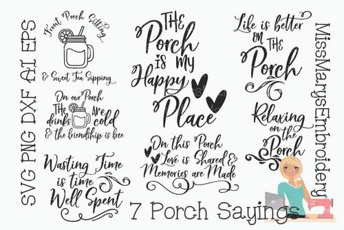 Porch Saying Bundle SVG