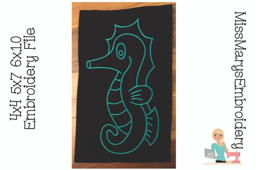 Seahorse Embroidery