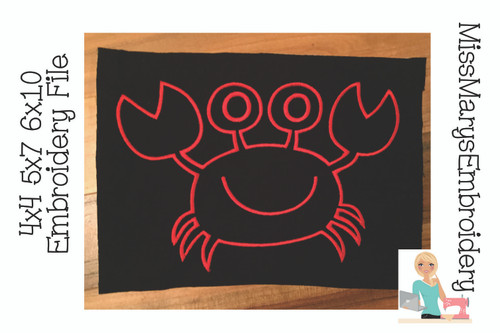 Crab Embroidery