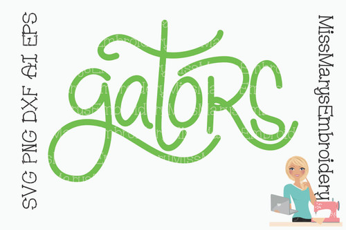 Hand Lettered Gators