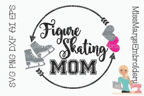 Figure Skating Mom Monogram
