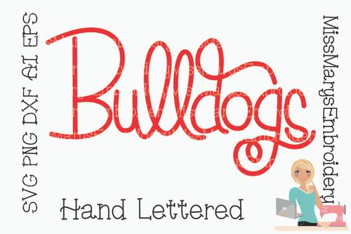 Hand Lettered Bulldogs SVG 2