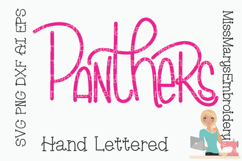 Hand Lettered Panthers SVG