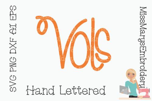 Hand Lettered Vols SVG