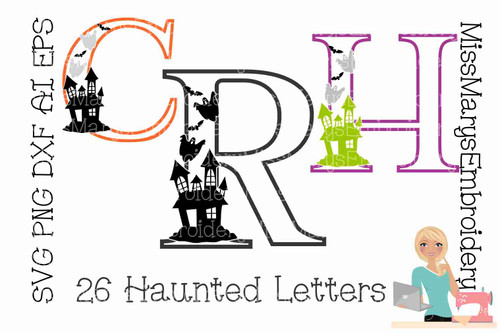 Halloween Letters SVG