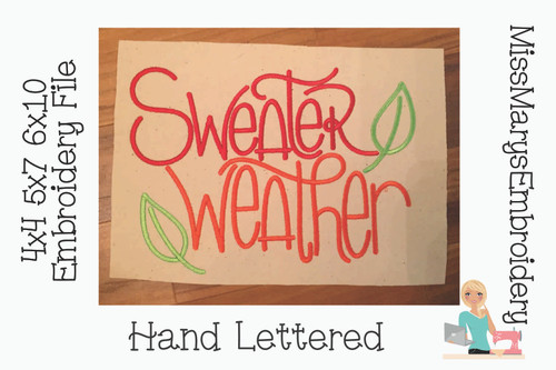 Sweater Weather Embroidery 2