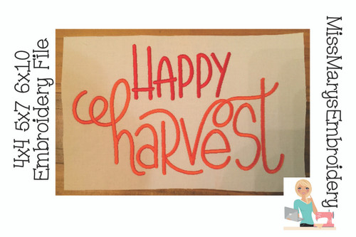 Happy Harvest Embroidery
