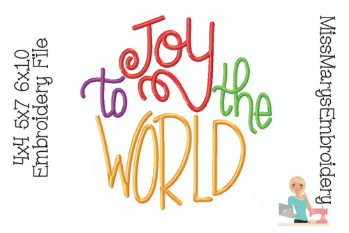 Joy to the World Embroidery
