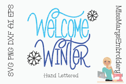 Welcome Winter SVG