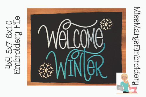 Welcome Winter Embroidery